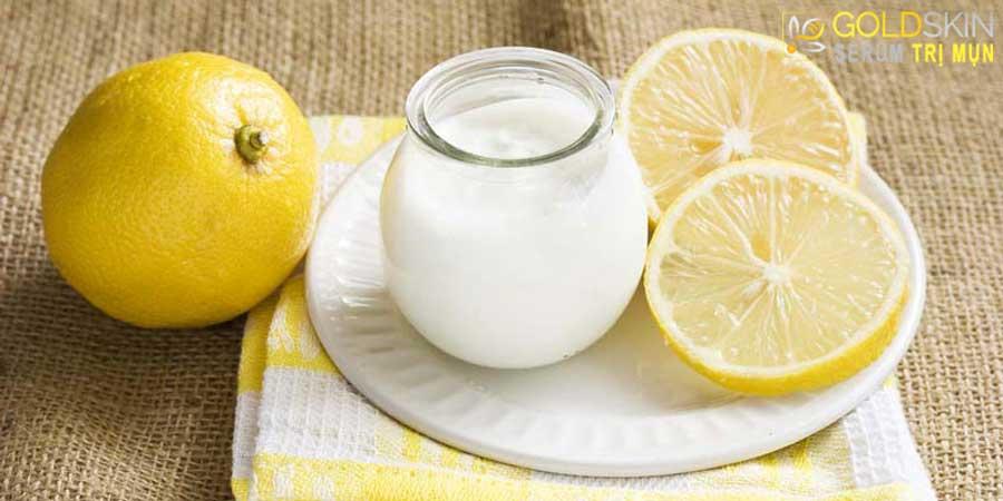 Nước cốt chanh kết hợp với sữa chua