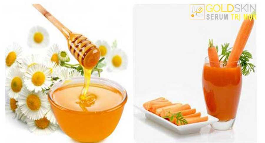 Đắp mặt nạ cà rốt mật ong không chỉ là biện pháp làm đẹp mà còn giúp ngừa và loại bỏ mụn