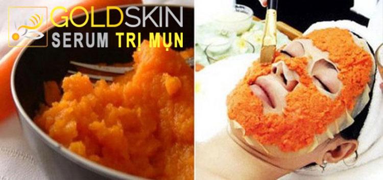 Cà rốt là nguyên liệu giúp trị mụn bọc cho da nhờn, da dầu, mụn đầu đen tốt