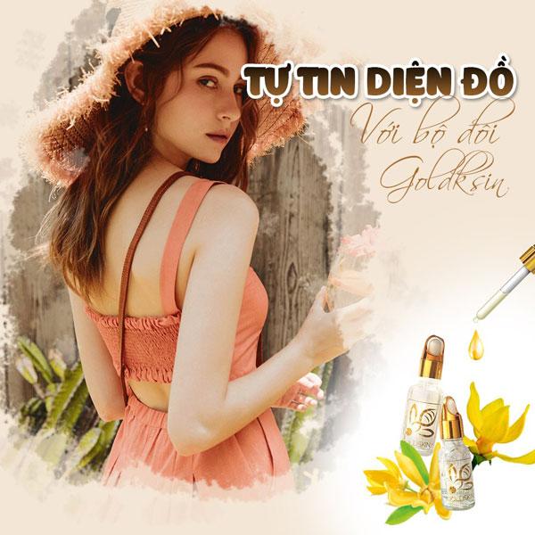 Serum chiết xuất 100% từ thảo dược của Goldskin chính là lựa chọn nên tham khảo