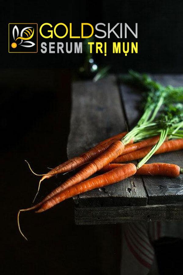 Cà rốt là thực phẩm làm đẹp da chứa nhiều hàm lượng dưỡng chất cần thiết