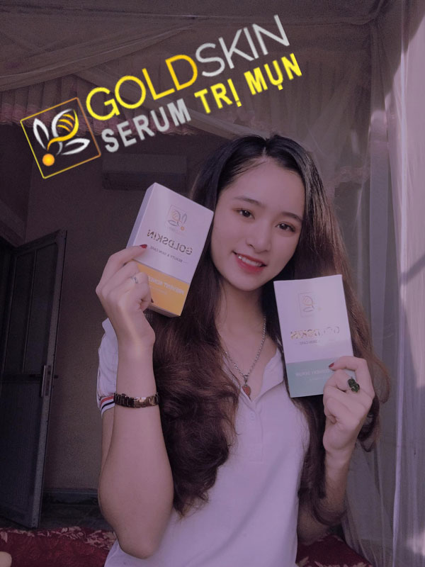 Hiệu quả của serum trị mụn Goldskin đối với da