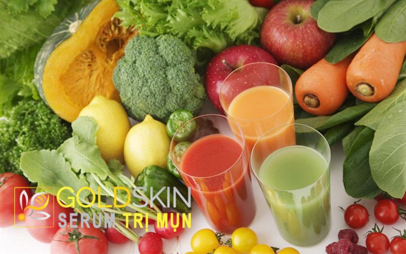 Bổ sung cho cơ thể nhiều nước và hoa quả, rau xanh