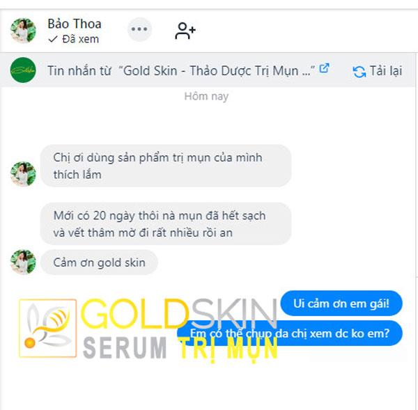 KH phản hồi tốt về serum Goldskin