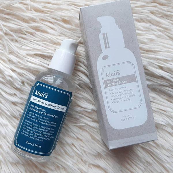 Serum Klairs Rich Moist Soothing- giúp dưỡng ẩm da hiệu quả
