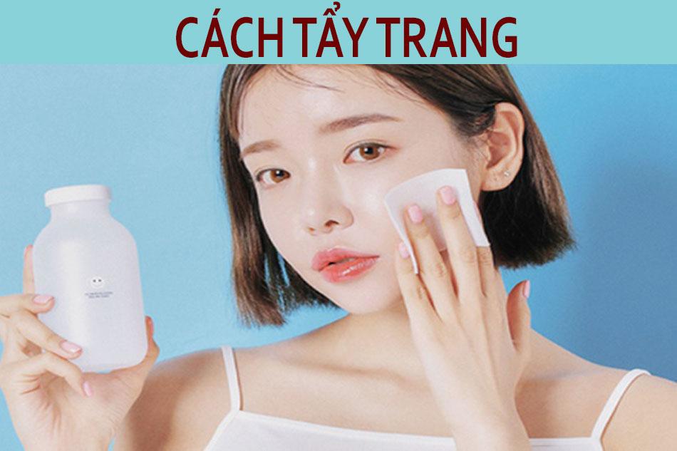 Phương pháp tẩy trang cho da mụn